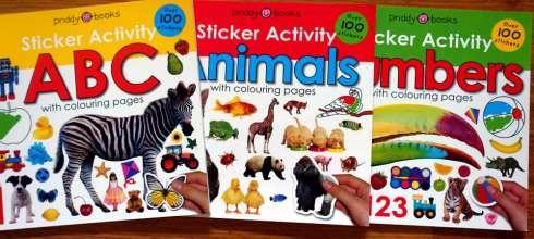 3本適合孩子的認知貼紙書|Sticker Activity ABC, Animals Numbers