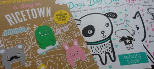英國設計師的麵條城米怪畫畫冊●A Day in Ricetown●外出安撫好用畫冊大集合
