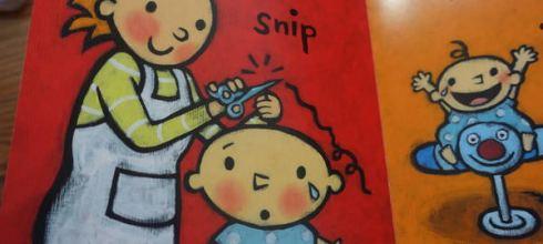 尿布小寶再出動●Leslie Patricelli品格行為硬頁書●剪頭髮就大哭小人好適合