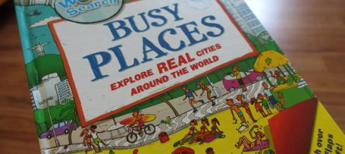 【親子共讀】小小孩的世界觀●World Search Busy Places ●硬頁翻翻找找書
