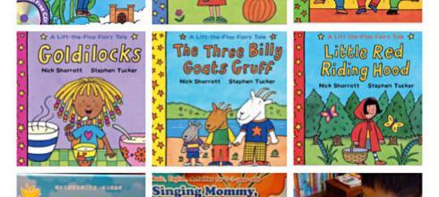 [導讀]5月書團●英國Lift-the-flap Fairy Tales童話故事有聲翻翻書●英文親子歌謠書