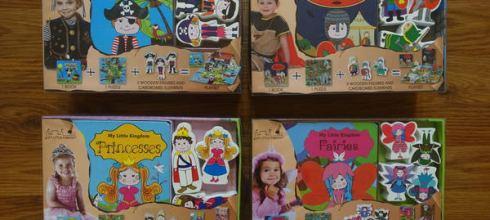 來自丹麥的想像力教具●My Little Kingdom系列木玩拼圖書盒●男寶海盗騎士篇