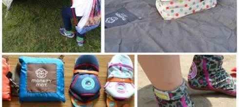 【戶外好物加開團】●荷蘭 Duukies 摺疊防滑輕便鞋●野餐墊及日本野餐籃