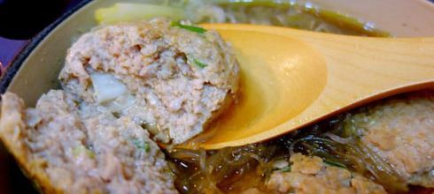 [鑄鐵鍋.煮食筆記]免油炸版的 ●紅燒獅子頭● 少油料理, 小小孩也適合