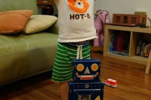 [2y5m]拼圖界裡的變形金鋼●My Little Blue Robot立體拼圖●同大爺的新朋友