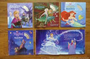 陪同大爺2年多的隨身故事書們●迪士尼有聲CD書-公主電影主題(下)●