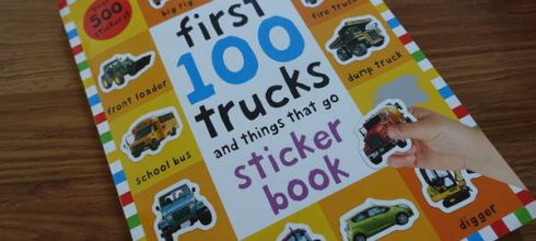 [大推] 超實用500張貼紙書●first 100 trucks and things that go sticker book●