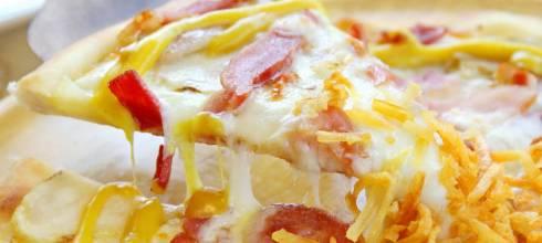 WOODSTONE,台北東區「神」爐烤PIZZA吃到飽?!大推美薯燻雞培根白披薩