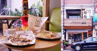 新銳咖啡 雲林虎尾深夜咖啡廳推薦,虎科學生快揪好友分享浮誇系酒莓蜜凍飲和墨魚黑醬起司披薩吧!附插座