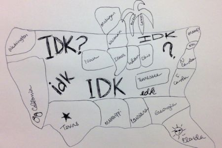 pics photos to draw a map of the united states entirely