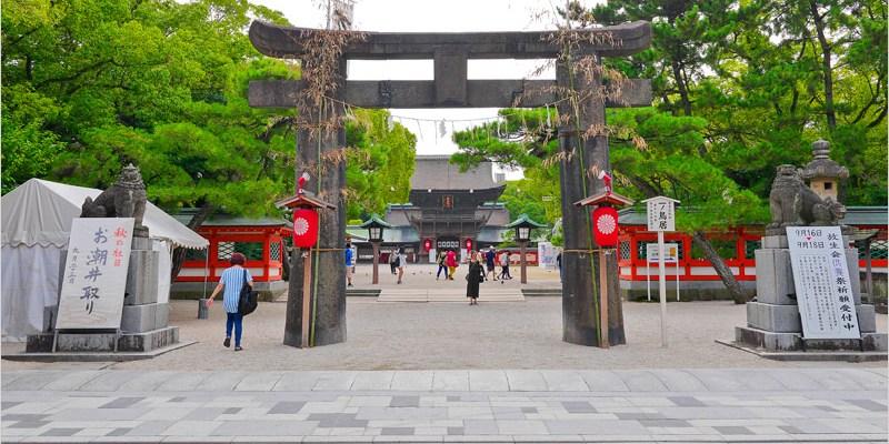 日本九州福岡神社   筥崎八幡宮。日本三大八幡社之一,更有過千年歷史,也是日本重要的文化財產。