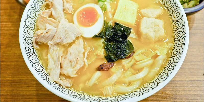 三禾手打烏龍麵 台中黎明店 | 日式烏龍麵,9種湯頭任你選、麵條滑Q,小菜豐富多樣化。