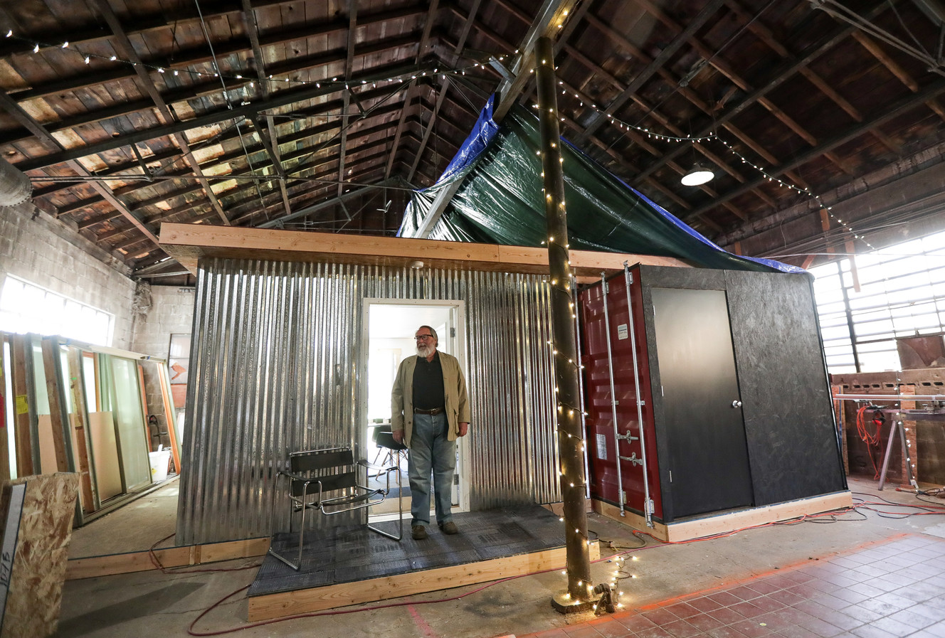Comfy Jeff Shows Off A Model Shipping Container Home Inside His Shop Insalt Lake City On May Spenser Alternative Housing Could Mitigate Decreasing Affordability curbed Ksl Homes For Rent