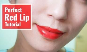 <影音>任何強烈唇色都輕鬆駕馭!完美紅唇教學。