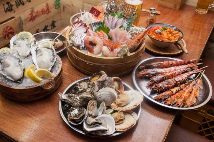 [台北松山]日本超豪邁漁夫料理新鮮上桌!頂級海鮮一元拍賣會超有趣!一氣水產浜燒專門店
