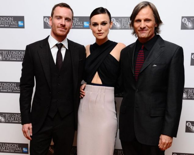 Michael Fassbender, Keira Knightley, Viggo Mortensen, A Dangerous Method, London Film Festival 2011
