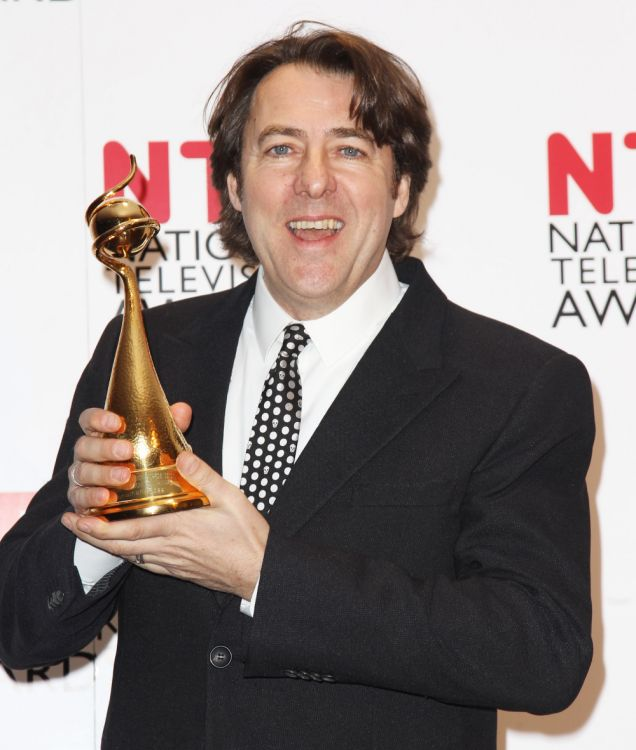Jonathan Ross shows off his National Television Award