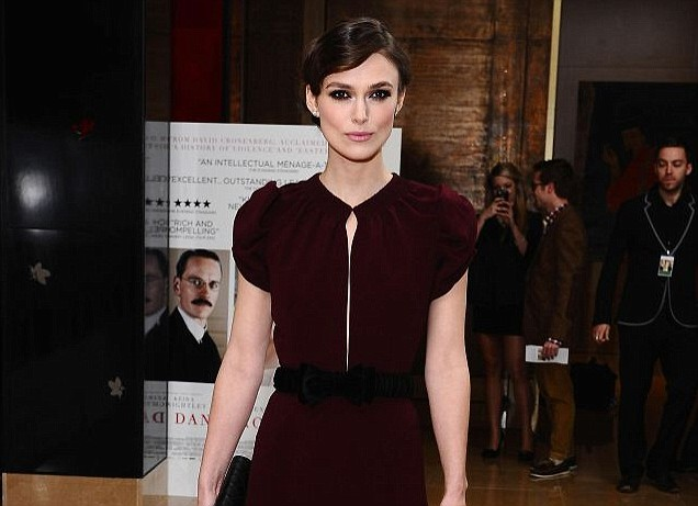 Keira Knightley, A Dangerous Method premiere
