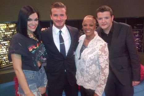 JESSIE J TWEETS A PIC OF HER DAVID BECKHAM,DIONNE WARWICK AND KEVIN BRIDGES