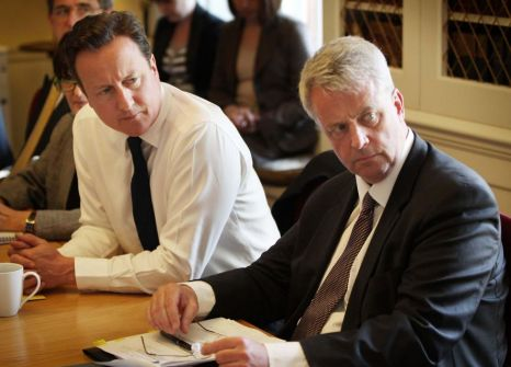 David Cameron, Health secretary Andrew Lansley