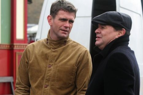 Jamie Foreman chats to his on-screen brother Jack, played by Scott Maslen