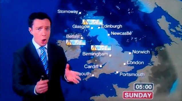 Alex Deakin makes weather gaffe with 'bucket loads of cunts'