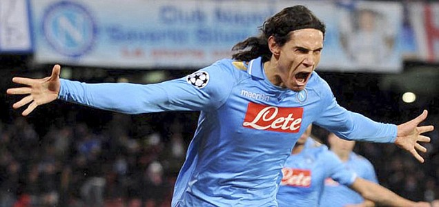 Napoli striker Edinson Cavani 