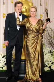 Meryl Streep, Colin Firth, Oscars 2012