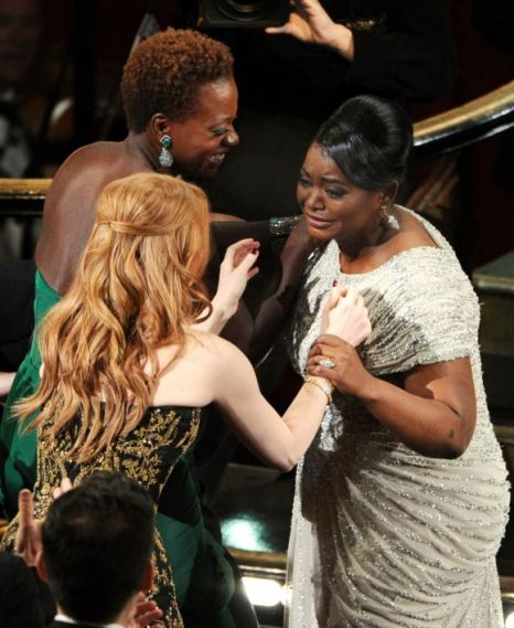 Viola Davis, Jessica Chastain, Octavia Spencer, Oscars 2012