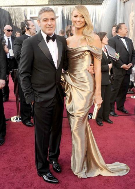  George Clooney, Stacy Kiebler, Oscars 2012
