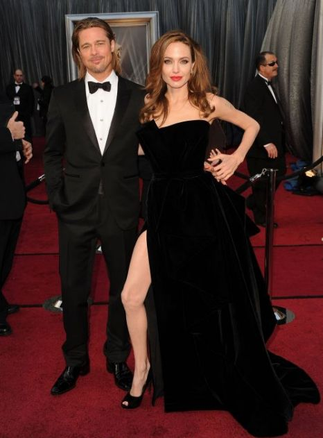 Oscars 2012, Angelina Jolie, Brad Pitt