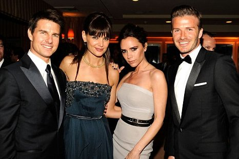 Tom Cruise, Katie Holmes, Victoria Beckham and David Beckham