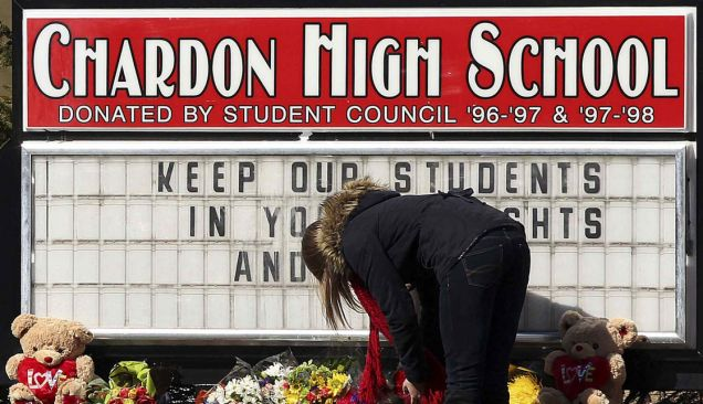 Chardon High School, Ohio, High school shooting