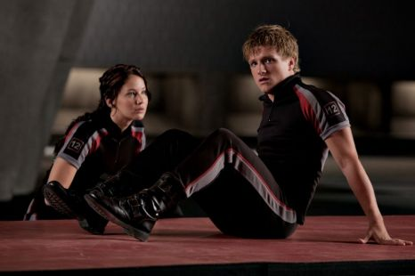 Trio: Josh Hutcherson forms the triangle