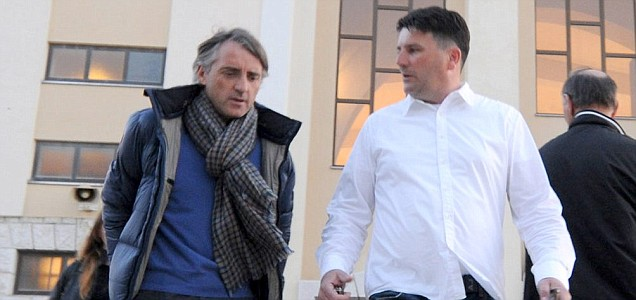 Roberto Mancini in Bosnia