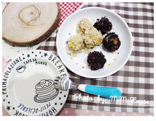 //好小子副食品//10M+手抓食。噗啾噗啾的珍珠丸子還有黑米配方唷!