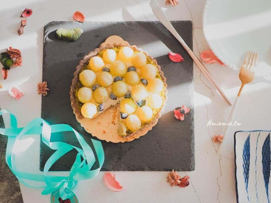 受保護的文章:宅配美食》瓢蟲女孩甜點鋪。綠葡萄乳酪塔(季節限定)