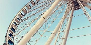 香港中環景點   中環碼頭 高60公尺的摩天輪 中環新地標
