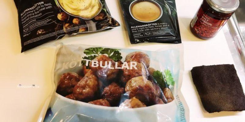IKEA美食 瑞典肉丸 肉丸奶醬 馬鈴薯泥 有機越橘果醬 好好吃的瑞典烤肉丸買回家自己DIY料理 在家也能輕鬆吃異國料理