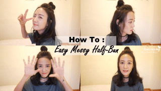 [ VLOG] 隨性的半丸子頭GET! ♥Messy Half Knot Tutorial