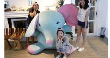 東區美食餐廳 ▌「u*ki smile coffee」:超可愛的藍色大象玩偶!適合聊天聚會的下午茶(捷運忠孝敦化站)