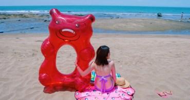 造型游泳圈|Big mouth-超大!夏天海邊必備超Q的小熊軟糖 甜甜圈造型泳圈&沙灘巾