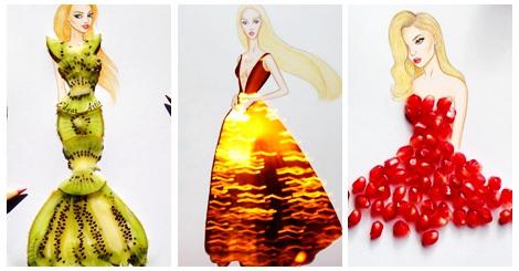 【藝術】用物件景色形成的禮服,完全美得不像話了!