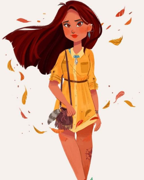 小美人鱼是个可爱的同学耶~~ 白雪公主可能吃太多苹果派变胖了一点.