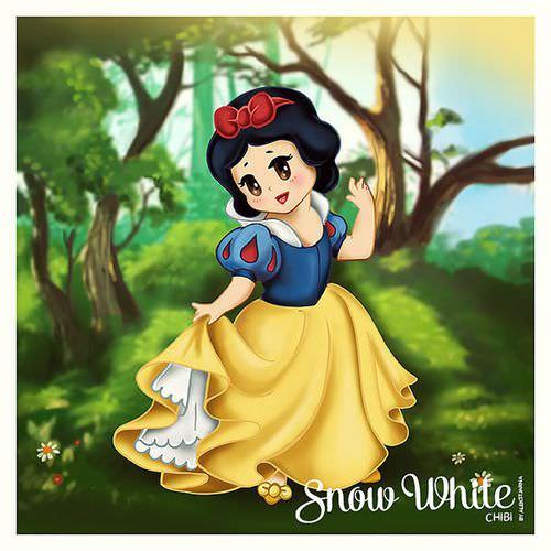 为什麼看她短短的腿觉得好可爱耶~~~ 感觉最符合一切的是白雪公主