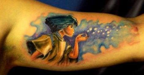 【刺青】要與眾不同的刺青,就要刺上吉卜力動畫的主角才夠特別!