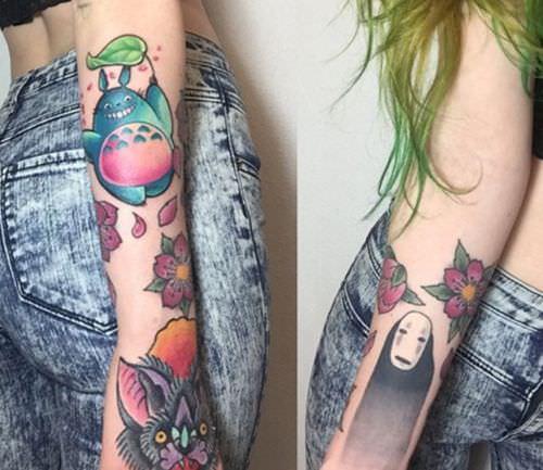 龙猫纹身图片展示