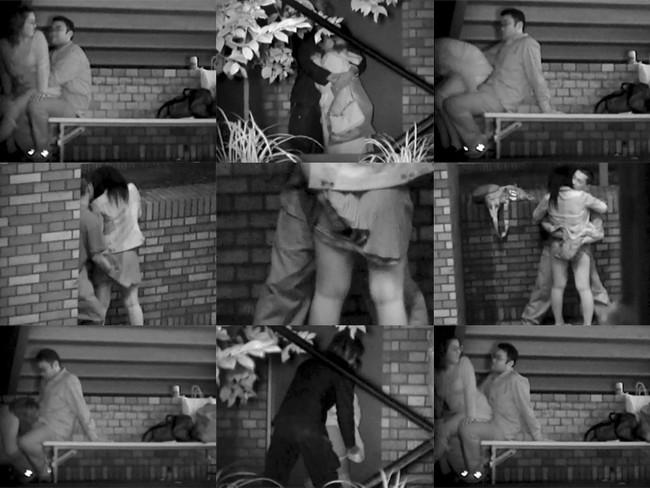 【ヌード画像】公園での素人SEXを赤外線盗撮した画像集!盗撮されようが蚊に刺されようがとにかくSEX!ww(50枚) 07