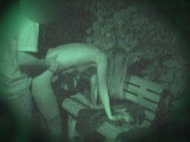 【ヌード画像】公園での素人SEXを赤外線盗撮した画像集!盗撮されようが蚊に刺されようがとにかくSEX!ww(50枚) 29