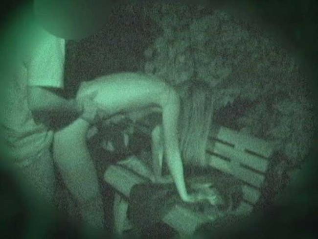 【ヌード画像】公園での素人SEXを赤外線盗撮した画像集!盗撮されようが蚊に刺されようがとにかくSEX!ww(50枚) 35